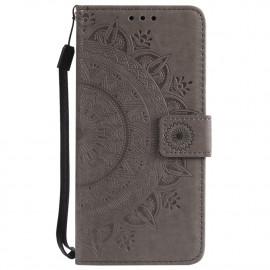 Bloemen Book Case Samsung Galaxy S7 Hoesje - Grijs
