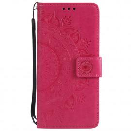 Bloemen Book Case Samsung Galaxy S7 Hoesje - Roze