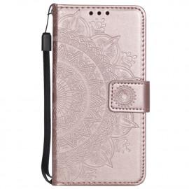 Bloemen Book Case Samsung Galaxy S7 Hoesje - Rose Gold