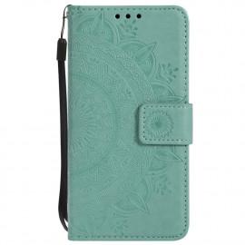 Bloemen Book Case Samsung Galaxy S7 Hoesje - Cyan