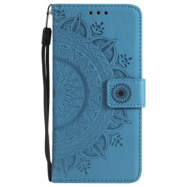 Bloemen Book Case Samsung Galaxy S7 Hoesje - Blauw