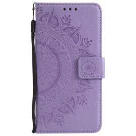 Bloemen Book Case Samsung Galaxy S7 Hoesje - Paars