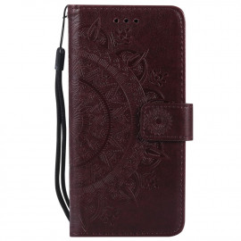 Bloemen Book Case Samsung Galaxy S7 Hoesje - Bruin