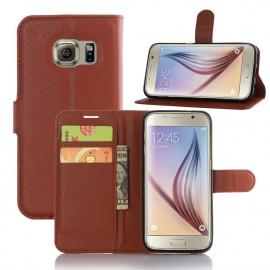 Book Case Samsung Galaxy S7 Hoesje - Bruin