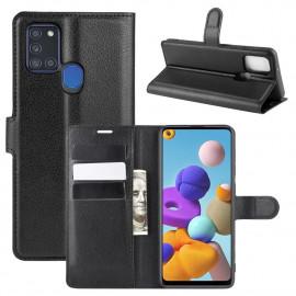 Book Case Samsung Galaxy A21s Hoesje - Zwart