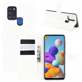 Book Case Samsung Galaxy A21s Hoesje - Wit