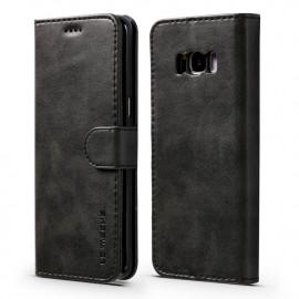 Luxe Book Case Samsung Galaxy S8 Hoesje - Zwart