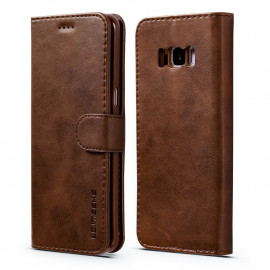 Luxe Book Case Samsung Galaxy S8 Hoesje - Donkerbruin