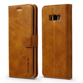 Luxe Book Case Samsung Galaxy S8 Hoesje - Bruin
