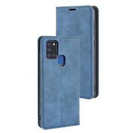 Premium Book Case Samsung Galaxy A21s Hoesje - Blauw