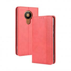 Vintage Book Case Nokia 5.3 Hoesje - Rood