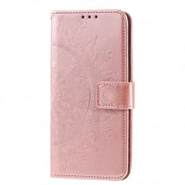 Bloemen Book Case Huawei P Smart (2020) Hoesje - Rose Gold