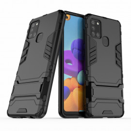 Armor Kickstand Samsung Galaxy A21s Hoesje - Zwart