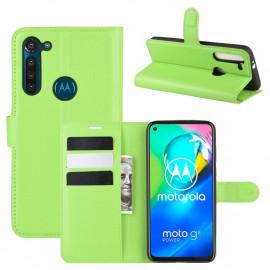 Book Case Motorola Moto G8 Power Hoesje - Groen
