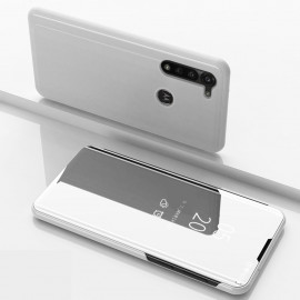 Mirror View Case Motorola Moto G8 Power Hoesje - Zilver
