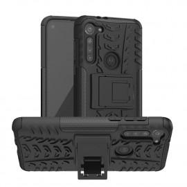Rugged Kickstand Motorola Moto G8 Power Hoesje - Zwart