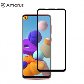 Full-Cover Tempered Glass Samsung Galaxy A21s - Zwart