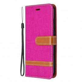 Denim Book Case Nokia 1.3 Hoesje - Roze