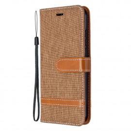 Denim Book Case Nokia 1.3 Hoesje - Bruin