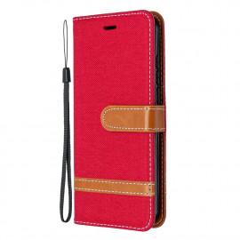 Denim Book Case Nokia 1.3 Hoesje - Rood