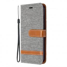 Denim Book Case Nokia 1.3 Hoesje - Grijs