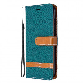Denim Book Case Nokia 1.3 Hoesje - Groen