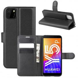 Book Case Huawei Y5P Hoesje - Zwart