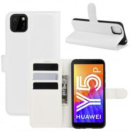 Book Case Huawei Y5P Hoesje - Wit