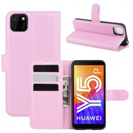 Book Case Huawei Y5P Hoesje - Pink