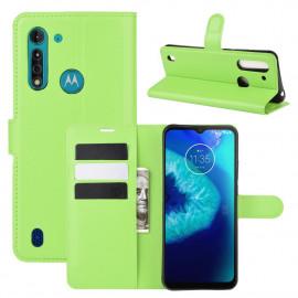 Book Case Motorola Moto G8 Power Lite Hoesje - Groen