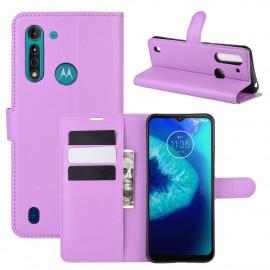 Book Case Motorola Moto G8 Power Lite Hoesje - Paars