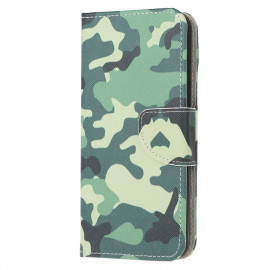 Book Case Samsung Galaxy A21s Hoesje - Camouflage