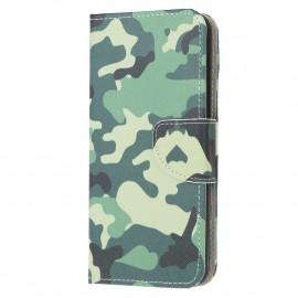 Book Case Huawei Y6P Hoesje - Camouflage