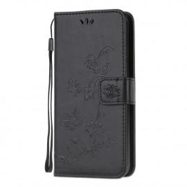 Vlinder Book Case Huawei Y6P Hoesje - Zwart