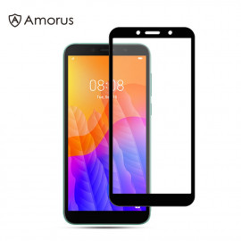 Full-Cover Tempered Glass Huawei Y5P - Zwart