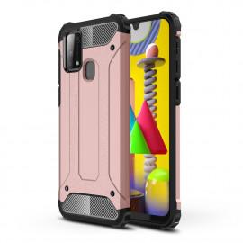 Armor Hybrid Samsung Galaxy M31 Hoesje - Rose Gold