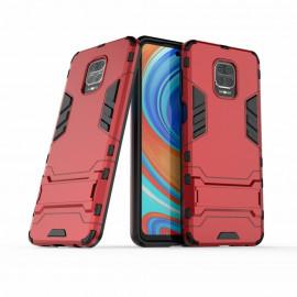 Armor Kickstand Xiaomi Redmi Note 9 Pro / 9S Hoesje - Rood