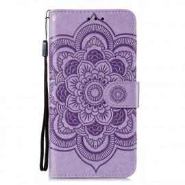 Bloemen Book Case Motorola Moto G8 Power Lite Hoesje - Lila