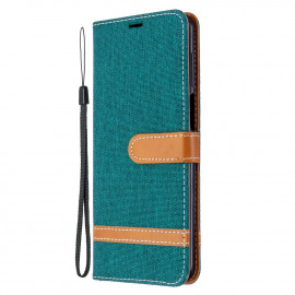 Denim Book Case Xiaomi Redmi Note 9 Pro / 9S Hoesje - Groen