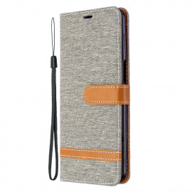 Denim Book Case Xiaomi Redmi Note 9 Pro / 9S Hoesje - Grijs