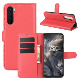 Book Case OnePlus Nord Hoesje - Rood