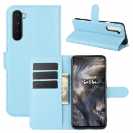 Book Case OnePlus Nord Hoesje - Lichtblauw