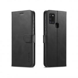 Luxe Book Case Samsung Galaxy A21s Hoesje - Zwart