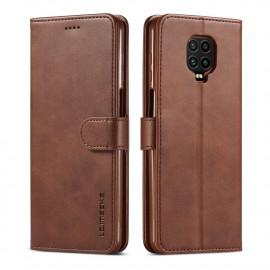 Luxe Book Case Xiaomi Redmi Note 9 Pro / 9S Hoesje - Donkerbruin