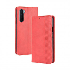 Vintage Book Case OnePlus Nord Hoesje - Rood