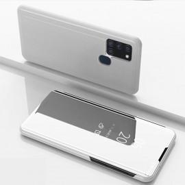 Mirror View Case Samsung Galaxy A21s Hoesje - Zilver