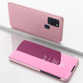 Mirror View Case Samsung Galaxy A21s Hoesje - Rose Gold