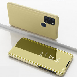 Mirror View Case Samsung Galaxy A21s Hoesje - Goud