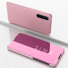 Mirror View Case OnePlus Nord Hoesje - Rose Gold