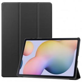 Tri-Fold Book Case Samsung Galaxy Tab S7 Plus Hoesje - Zwart